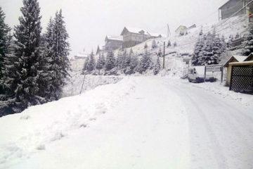 Video: Iarna și-a intrat în drepturi în Neamț. În zona montană stratul de zăpadă măsoară 20 de centimetri