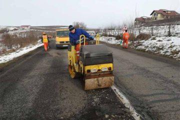 Reparații asfaltice de sezon pe drumurile naționale