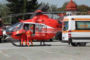 Bărbat în comă, dus cu elicopterul la Iași, după ce a fost victima unui accident rutier, în Roman