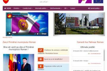 Primăria Roman lucrează la o nouă pagină de Internet și dorește o mai mare interacțiune cu romașcanii