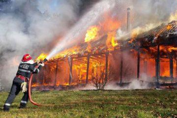 Incendii de vegetație uscată la Roman, Gâdinți, Făurei și Sagna