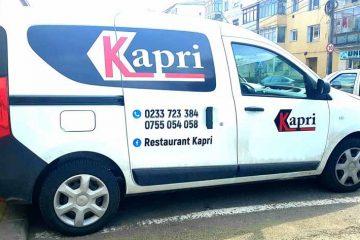 Restaurantul KAPRI și-a extins programul de livrări la domiciliu