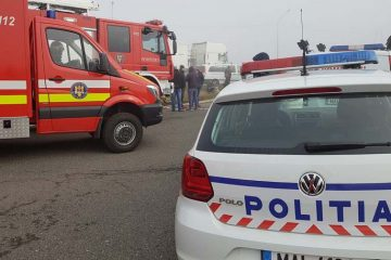 Accident grav la Luțca, în această dimineață. Un bărbat din Roman, șoferul autoturismului a fost dus de urgență la spital