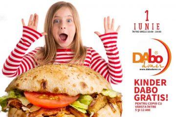 De 1 iunie, DAbo Doner Roman va oferi câte un KINDER DABO tuturor copiilor cu vârsta până în 12 ani