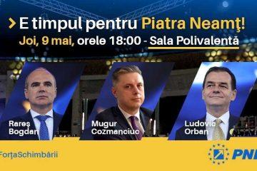 """Mugur Cozmanciuc, președintele PNL Neamț: """"Vă aștept astăzi la lansarea candidaților PNL la alegerile europarlamentare"""""""