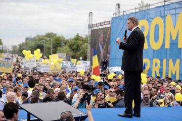 Peste 800 de liberali nemțeni au participat la mitingul din Piața Victoriei! Mugur Cozmanciuc alături de Președintele României Klaus Iohannis!
