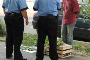 Roman: sancțiuni pentru comerț fără autorizație și vânzarea de mărfuri pe trotuare