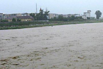 Avertizare Cod Portocaliu de inundații pe râul Moldova
