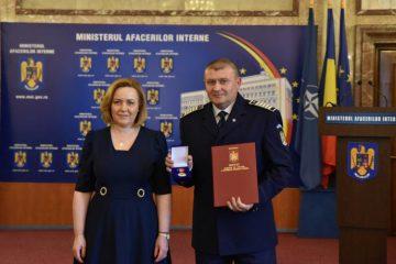 Ag. șef principal de poliție Busuioc Ovidiu – IPJ Neamț a primit Emblema de Onoare a Ministerului Afacerilor Interne