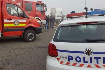Italiancă rănită într-un accident rutier produs pe DN 2, la Săbăoani