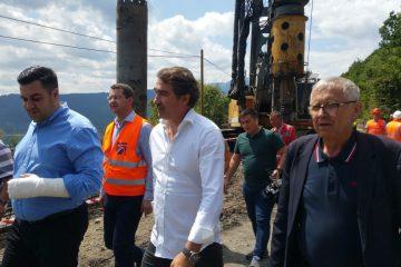 Ministrul Răzvan Cuc alături de președintele CJ Neamț Ionel Arsene la obiectivele de infrastructură din județ