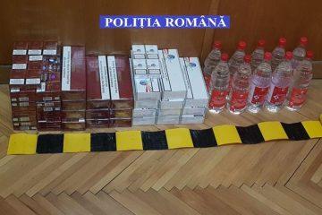 Alcool și țigări de contrabandă descoperite de polițiștii nemțeni