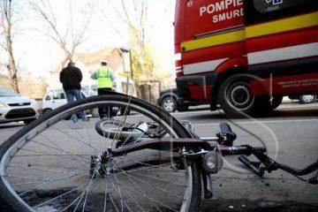 Biciclist beat, lovit de o mașină, în localitatea Horia, pe DN2/E85