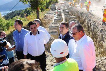 Președintele CJ Neamț Ionel Arsene, alături de ministrul Transporturilor Răzvan Cuc, la lucrările de infrastructură din județ