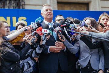"""Klaus Iohannis, la depunerea candidaturii: """"ȘTIU ce trebuie făcut, împreună cu un guvern pro european"""""""
