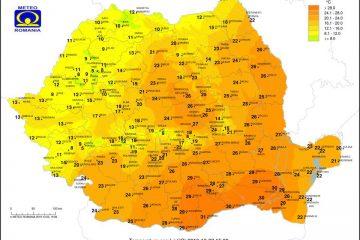 Vine frigul! Astăzi la ora 15.00: la Roman – 24 grade Clelsius, la Dumbrăvița de Codru, în Vest – 8 grade Celsius