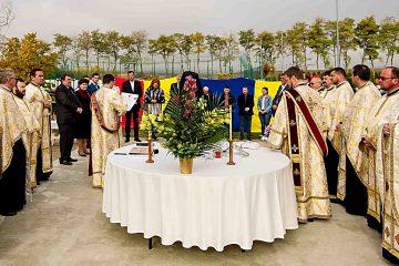 Deputatul Alexandru Rotaru și familia sa, ctitorii bisericii care se va înălța la Dulcești, drept mulțumire lui Dumnezeu pentru binefacerile primite