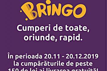 BRINGO, la Carrefour Roman: Livrare gratuită la cumpărături de peste 150 de lei