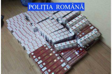 O persoană reținută și 19.000 de țigarete de contrabandă confiscate de polițiștii din Sagna