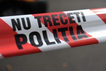 Bagaj suspect, lăsat în fața scării unui bloc din zona centrală a municipiului Roman