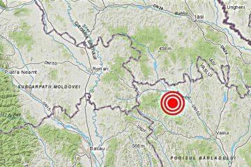 Trei cutremure, în dimineața de Crăciun, lângă Roman – zona Bozieni, spre Vaslui, într-un interval de două ore
