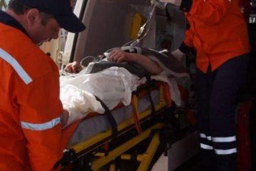 Accident rutier pe E 85, la Traian. Un bărbat a fost dus de urgență la spital