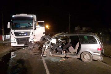 Autorul accidentului de la Gâdinți este un bărbat fără permis, băut, care conducea o mașină neînmatriculată