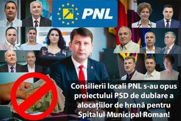 """Senator Dan Manoliu: """"Consilierii PNL au respins proiectul PSD de dublare a alocațiilor de hrană pentru Spitalul Roman"""""""