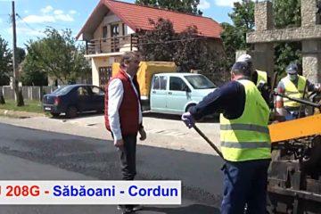 DJ 208G Săbăoani – Cordun – ieșirea către Pașcani este în plină modernizare