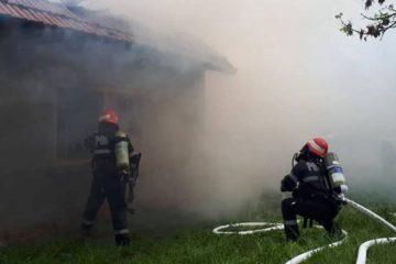 Incendiu, astăzi, la o gospodărie din comuna Oniceni