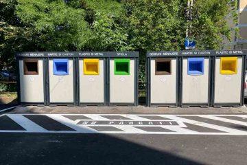 La Roman: Platforme casetate pentru colectarea separată a deșeurilor menajere în mai multe zone ale municipiului