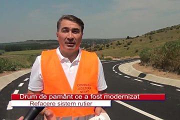 """Ionel Arsene: """"Încă un drum de pământ, asfaltat! Se toarnă ultimul strat de asfalt pe DJ 155B Bodești – Țolici – Petricani"""""""