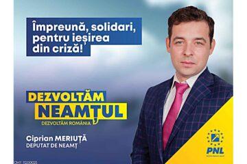 """Ciprian Meriuță, candidat PNL Neamț: """"Vaccinarea ar trebui să fie un gest de moralitate și solidaritate"""""""