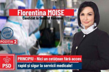 """Florentina Moise, candidata PSD Neamț la Senatul României: """"Guvernul Orban nu a fost în stare să gestioneze corect pandemia"""""""