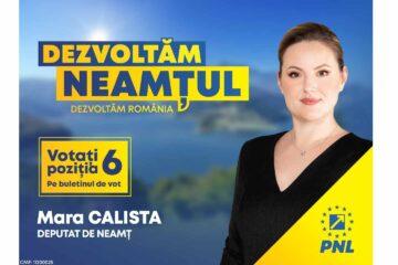 """Mara Calista, candidat PNL Neamț pentru Camera Deputaților: """"Guvernul PNL repară abuzurile Consiliului Județean Neamț"""""""