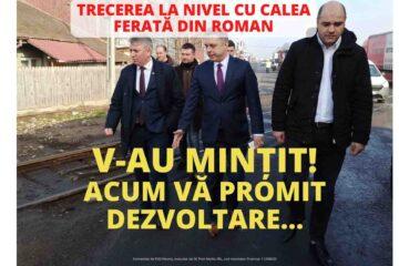 """Oana Bulai: """"Pasarela din Roman, de la trecerea la nivel cu calea ferată spre Iași, a rămas """"în aer"""""""""""