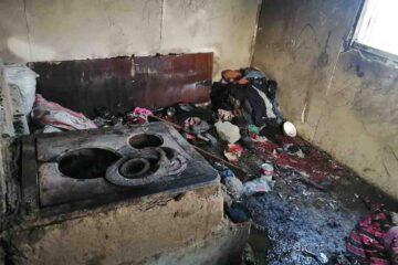 Imagini de la locul tragediei de la Bălușești unde și-a pierdut viața, într-un incendiu, un copilaș de 5 luni