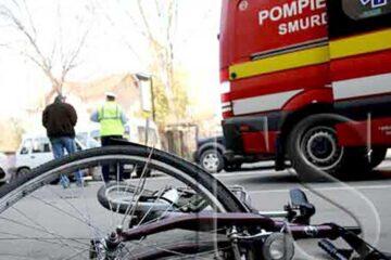 Biciclistă accidentată pe str. Ștefan cel Mare, din Roman