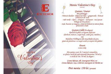 De Valentine's Day, Restaurantul Excelsior Roman, vă promite o seară plină de rafinament
