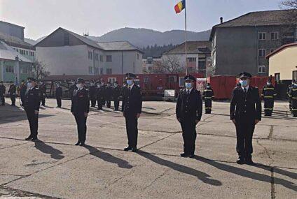 Subofițeri din cadrul ISU Neamț înaintați în grad, în semn de apreciere, cu ocazia Zilei Protecției Civile din România