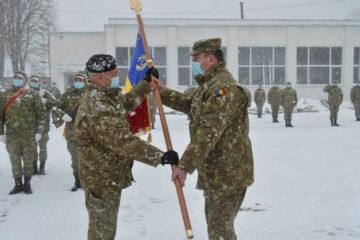 Ceremonial de predare-primire a comenzii Bazei 3 Logistică și trecerea în rezervă a comandantului Bazei