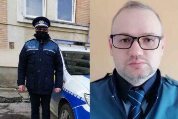 Agent șef adj. de poliție Rusu Constantin, de la Poliția Roman, a salvat două persoane dintr-o mașină în flăcări