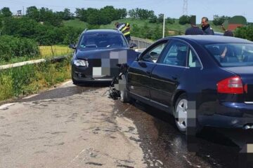 Accident rutier pe DJ 157 A: două autoturisme au fost implicate