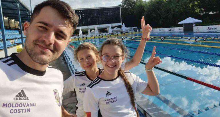 Secția de Natație a CSM Roman a participat cu două sportive la Campionatul Național de copii 10–11 ani